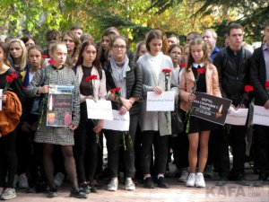 Феодосийцы почтили память жертв трагедии в керчи #14347