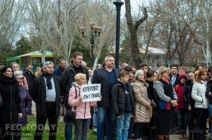 В Феодосии почтили память жертв трагедии в Кемерове #7637
