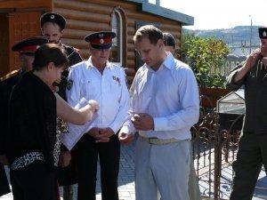 Фото принятия присяги казаками Феодосии в храме Архистратига Михаила #4301