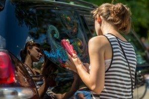 Фото автопробега и конкурс рисунков на авто в День города #1354