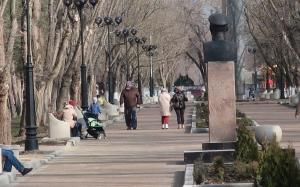 Комсомольский парк Феодосии: работы идут, горожане – прогуливаются #15432
