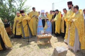 Фото освящения закладного камня под часовню в Феодосии #901