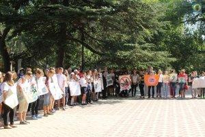 Фото митинга в Феодосии в память о жертвах терактов #3353