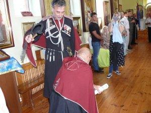 Фото принятия присяги казаками Феодосии в храме Архистратига Михаила #4303