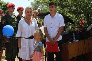 Фото освящения закладного камня по часовню в Феодосии #894