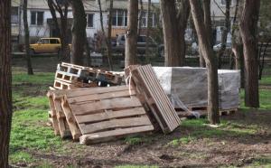 Комсомольский парк Феодосии: работы идут, горожане – прогуливаются #15439