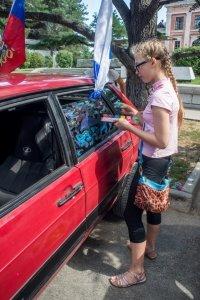 Фото автопробега и конкурс рисунков на авто в День города #1353