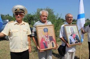 Фото освящения закладного камня по часовню в Феодосии #884