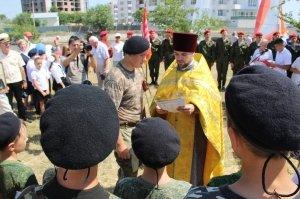 Фото освящения закладного камня по часовню в Феодосии #900
