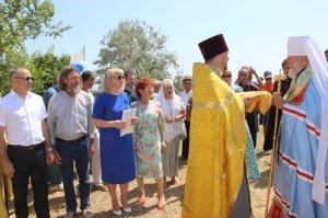 Фото освящения закладного камня по часовню в Феодосии #899