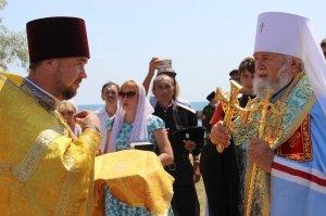 Фото освящения закладного камня по часовню в Феодосии #895