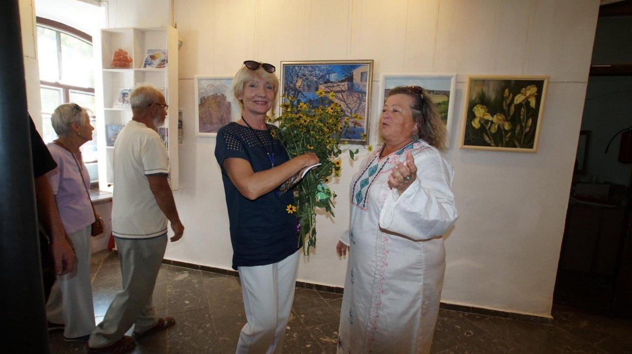 Фото открытия выставки Юшиной в музее ГРИНА #3402