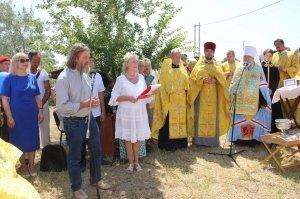 Фото освящения закладного камня по часовню в Феодосии #880