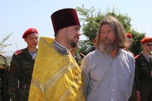 Фото освящения закладного камня по часовню в Феодосии #898