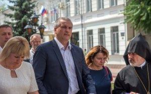 Фото визита Сергея Аксёнова и потомков Айвазовского в Феодосию #966