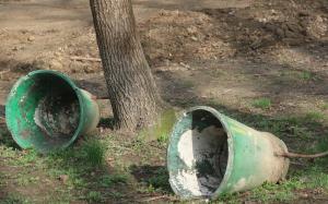 Комсомольский парк Феодосии: работы идут, горожане – прогуливаются #15444