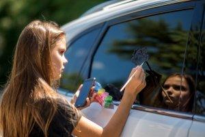 Фото автопробега и конкурс рисунков на авто в День города #1363