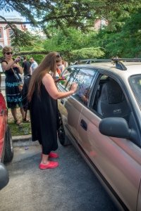 Фото автопробега и конкурс рисунков на авто в День города #1360