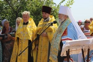 Фото освящения закладного камня по часовню в Феодосии #896