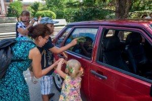 Фото автопробега и конкурс рисунков на авто в День города #1357