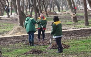 Комсомольский парк Феодосии: работы идут, горожане – прогуливаются #15434