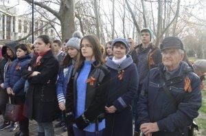 Фото митинга в честь Дня Героев Отечества в Феодосии #6217