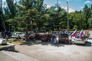 Фото автопробега и конкурс рисунков на авто в День города #1365