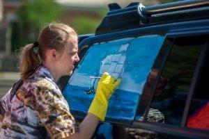 Фото автопробега и конкурс рисунков на авто в День города #1349