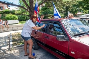 Фото автопробега и конкурс рисунков на авто в День города #1364