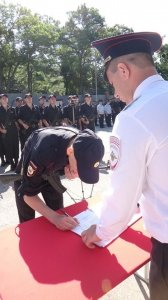 Фото принятия присяги в Краснокаменке #392