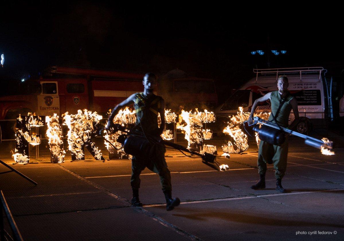 Фото фестиваля «Крым Fire-fest» в Коктебеле #2354