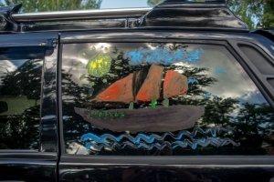 Фото автопробега и конкурс рисунков на авто в День города #1369