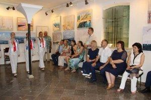 Фото открытия выставки «Море и любовь не терпят педантов» в Феодосии #1137
