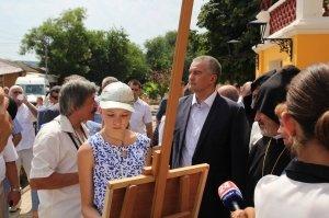 Фото визита Аксенова и потомков Айвазовского в Феодосию #959