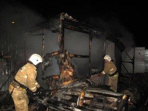 Фото возгорания на Челноках в Феодосии #6150