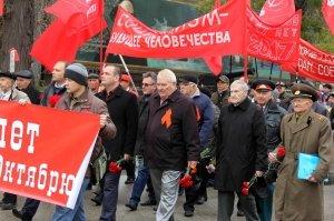 Фото митинга и демонстрации в честь 100-летия Великого Октября в Феодосии #5664