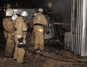 Фото возгорания на Челноках в Феодосии #6154