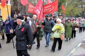 Фото митинга и демонстрации в честь 100-летия Великого Октября в Феодосии #5676