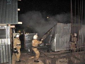 Фото возгорания на Челноках в Феодосии #6156