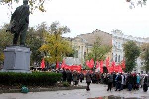 Фото митинга и демонстрации в честь 100-летия Великого Октября в Феодосии #5668