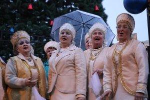 Фото торжественного открытия новогодней ёлки в Феодосии #6301