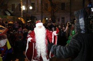 Фото торжественного открытия новогодней ёлки в Феодосии #6302