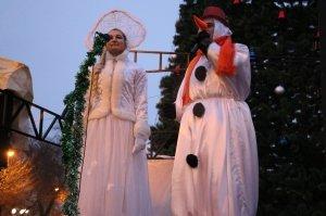 Фото торжественного открытия новогодней ёлки в Феодосии #6298